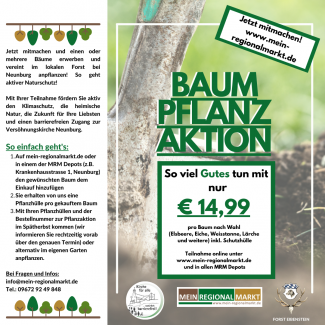 Flyer Baumpflanzaktion